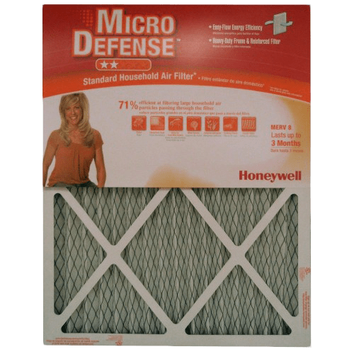 Honeywell Micro Defense 1-Inch MERV-8 Furnace Filters (6-PACK) ho4017