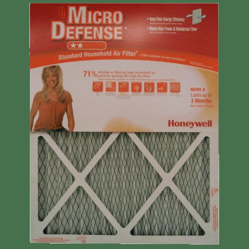 Honeywell Micro Defense 1-Inch MERV-8 Furnace Filters (6-PACK) ho4017