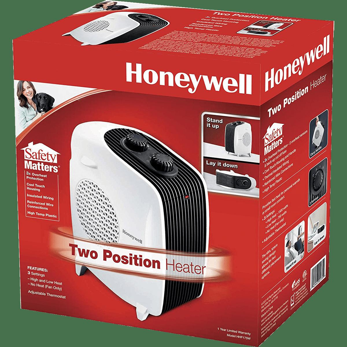 Honeywell Dual Position Heater Fan Hhf175w Sylvane Lasko Box Fuse
