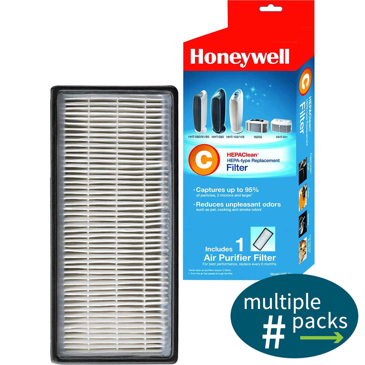 honeywell hepa clean replacement filter c sylvane. Black Bedroom Furniture Sets. Home Design Ideas