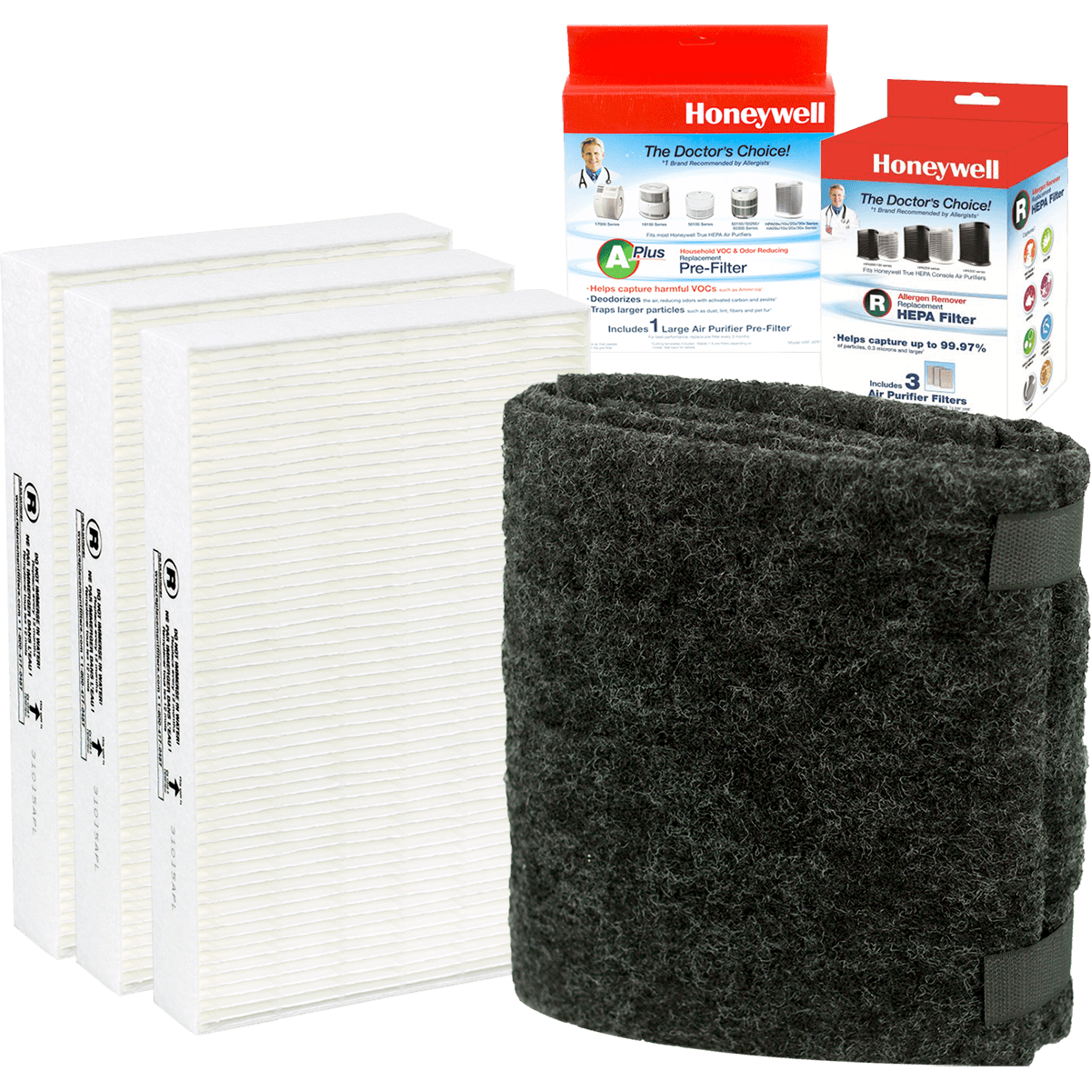 Honeywell HPA300 Air Purifier Filter Pack Value Kit Sylvane