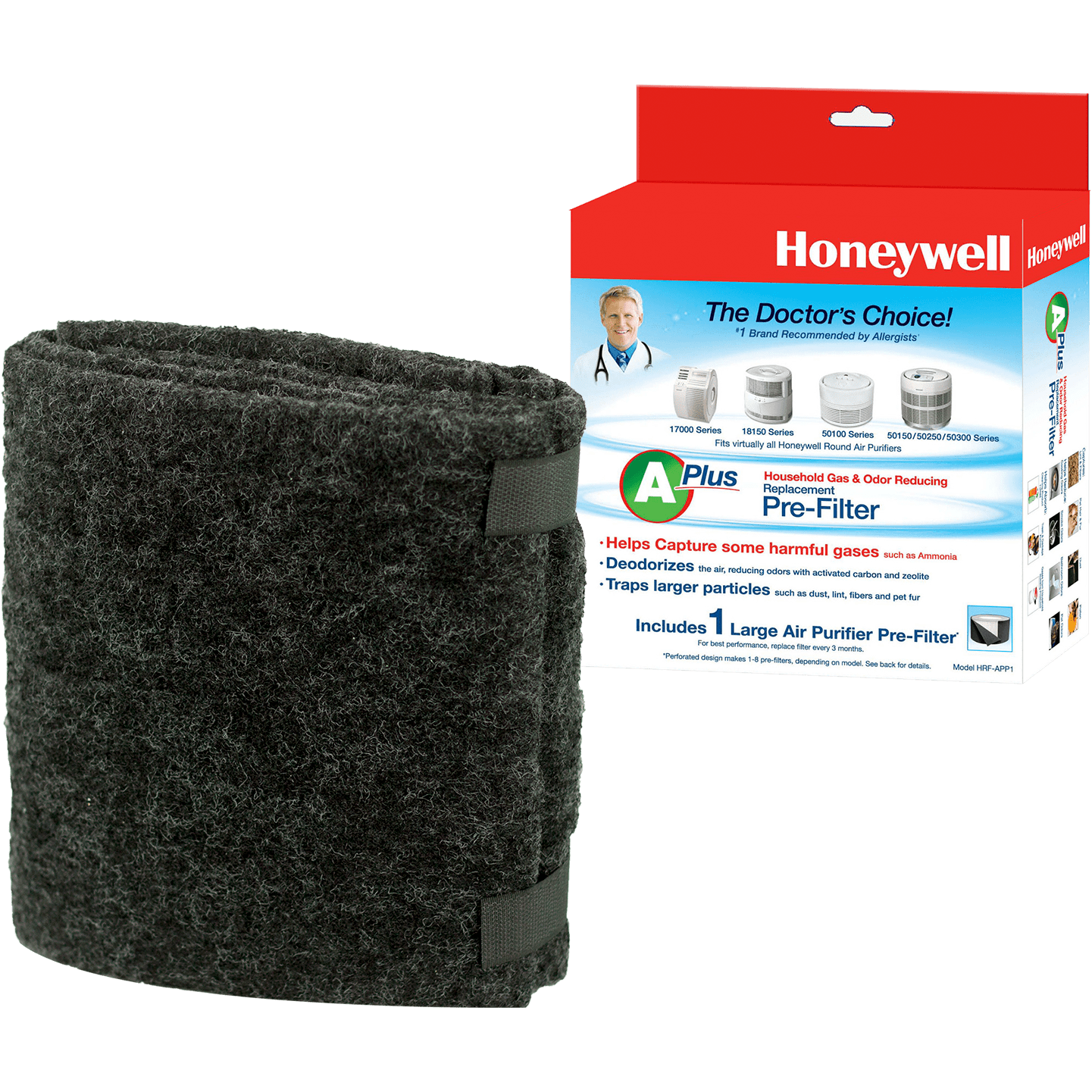 Honeywell Odor & Gas Reducing Universal Pre-filter - Filter A (HRF-APP1) ho4109
