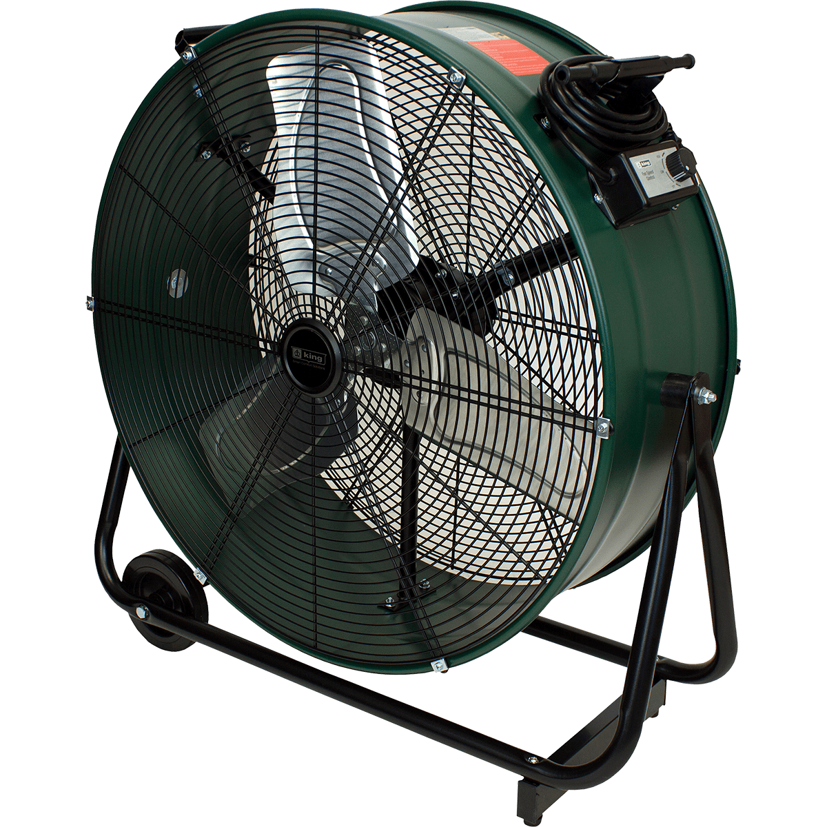 King Electric 24-in. Direct Drive Tiltable Drum Fan Model: DFC-24D-S