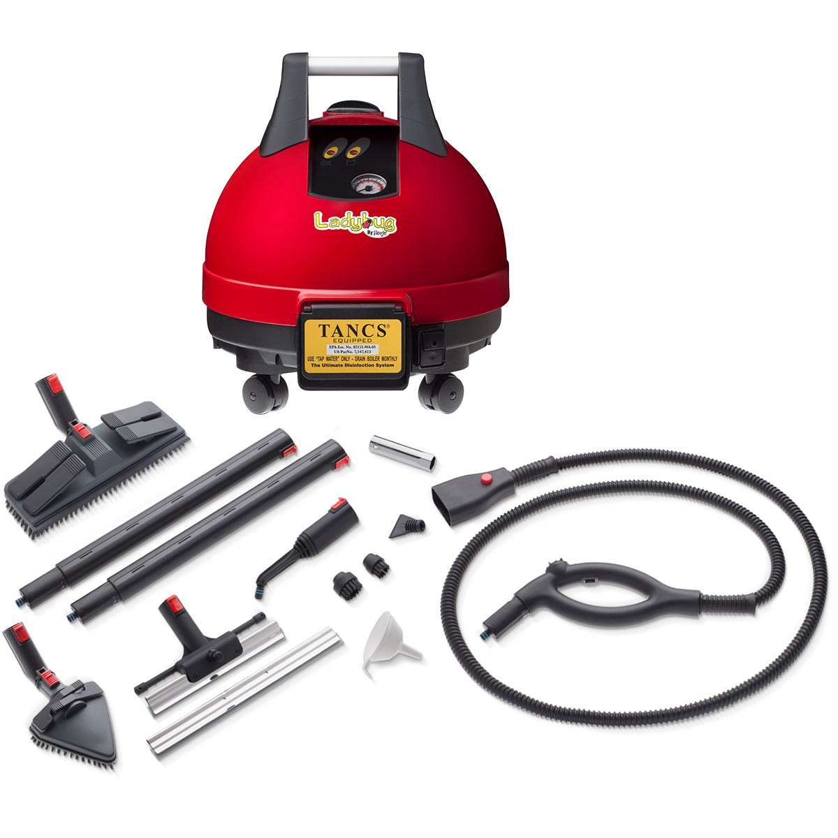 Ladybug 2200S comes with a standard accessory package