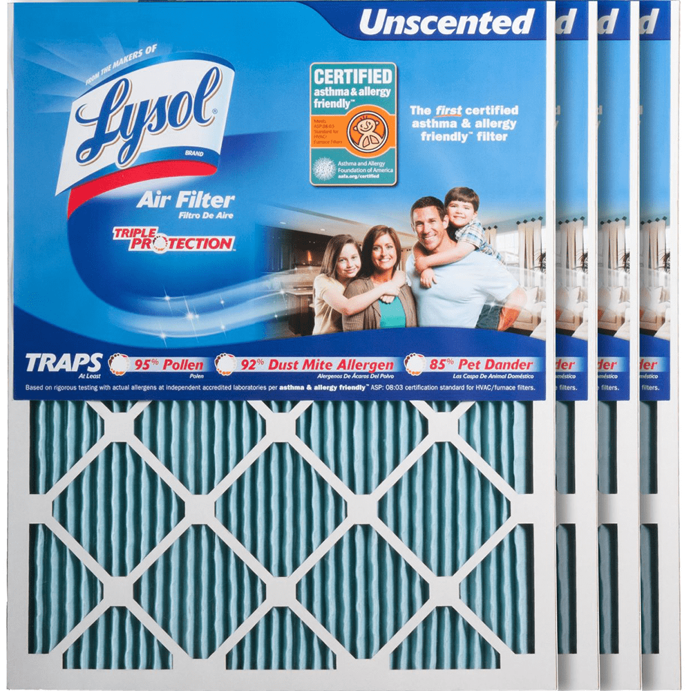 Lysol Triple Protection Furnace Air Filters ly4789