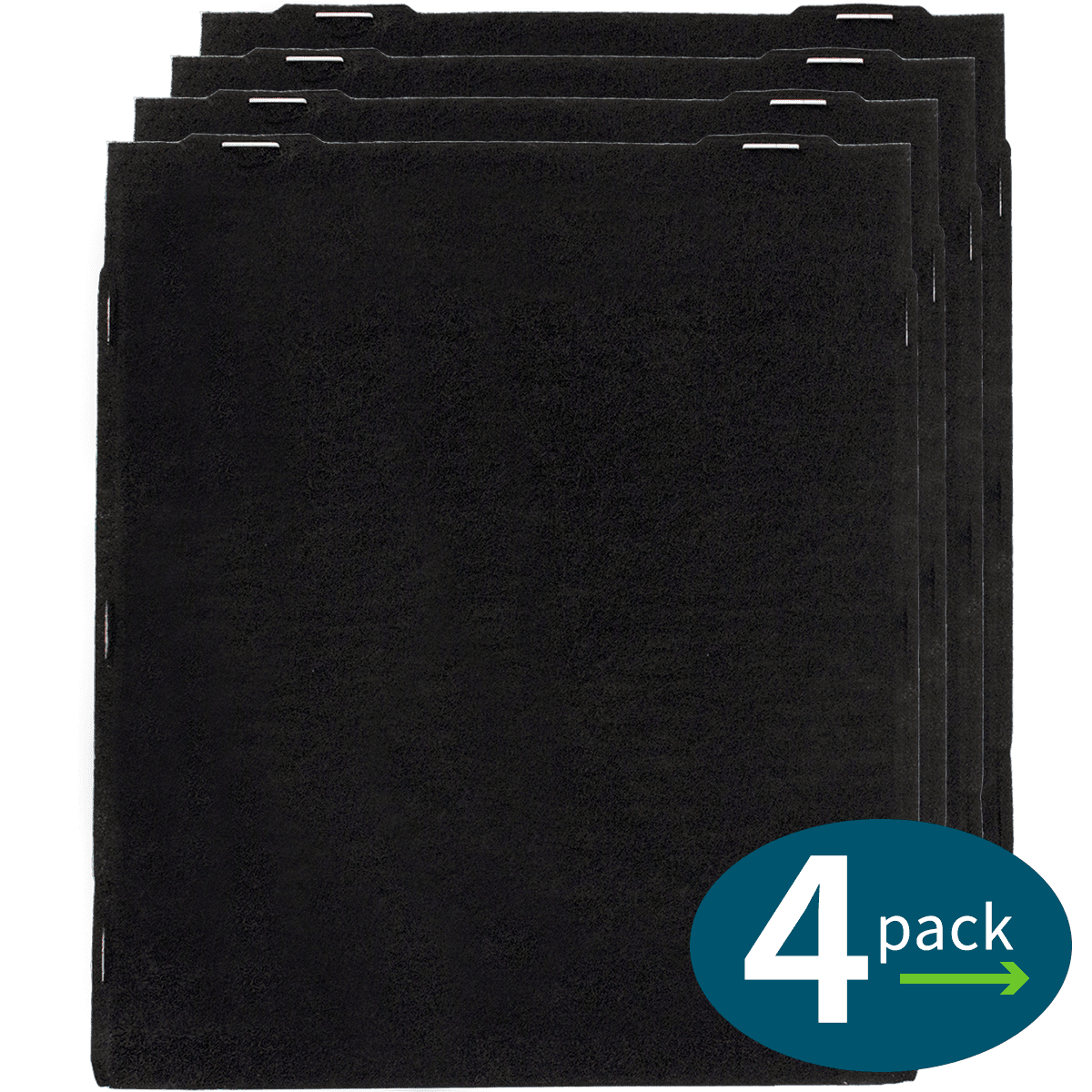 Filter-Monster Large Carbon Pre-filter for Whirlpool Air Purifiers (4 pack) wh6365