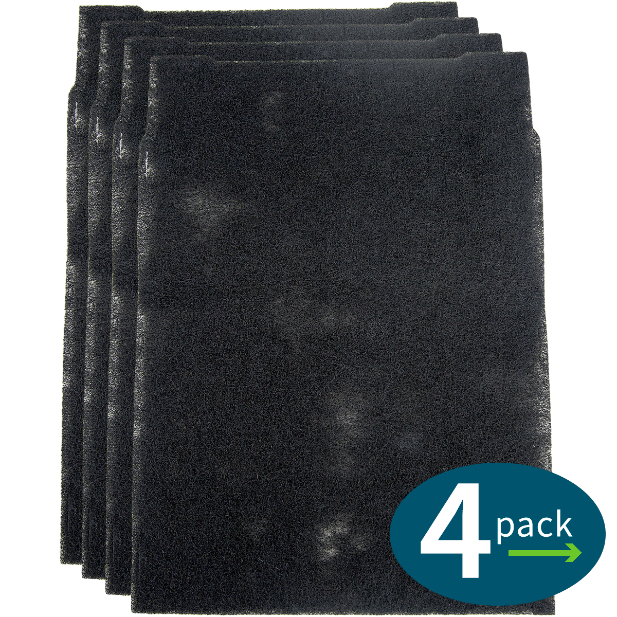 Master Brands HK Small Carbon Pre-Filter for Whirlpool Air Purifiers (4-Pack) wh6366