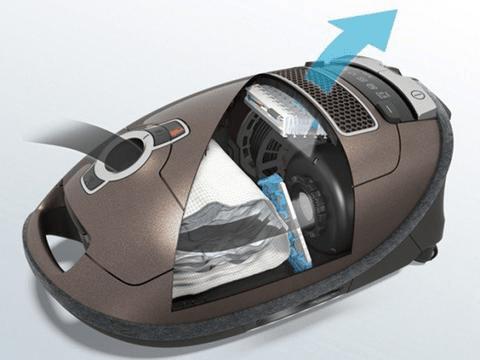 Miele AirClean HEPA Filtration Airflow