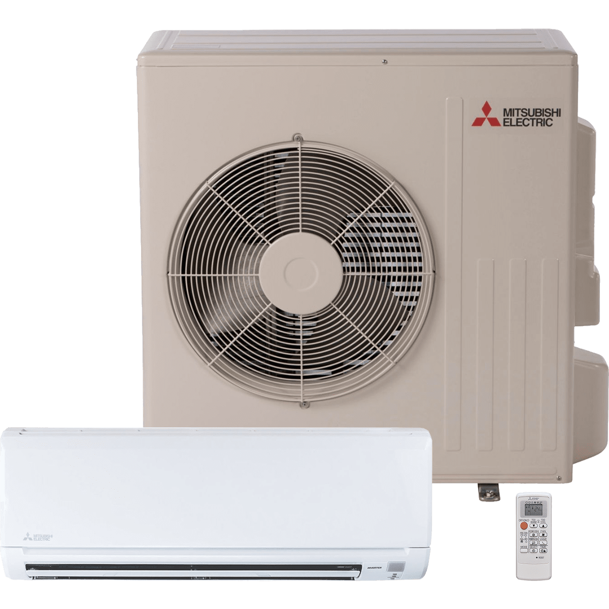 Mitsubishi 16 SEER 12,000 BTU WR Series Mini Split w/Heat Pump
