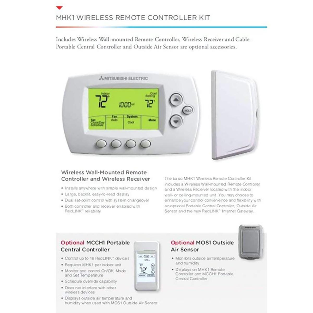 mitsubishi wireless remote receiver kit sylvaneMitsubishi Electric Mhk1 Thermostat Manual Share The Knownledge #16