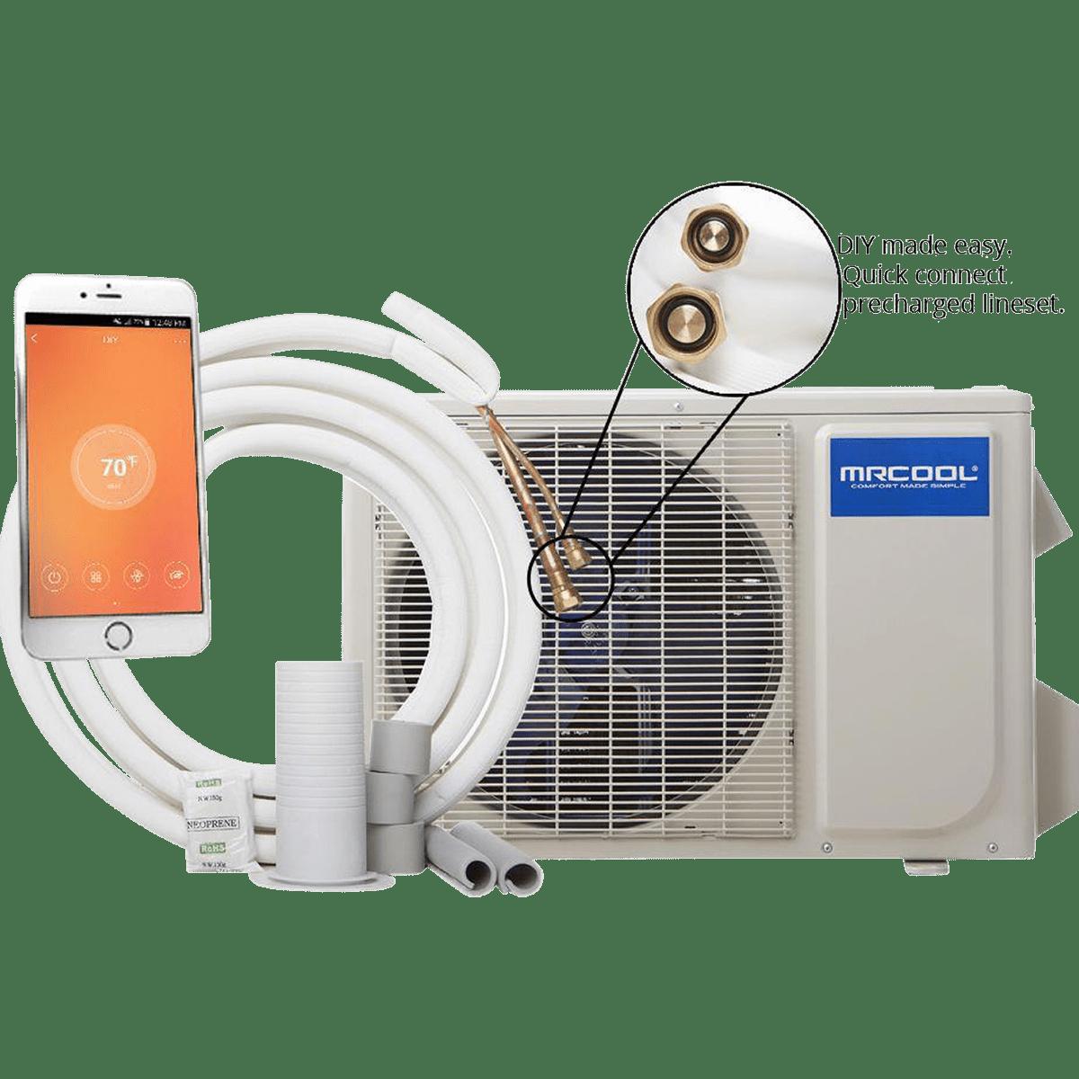 Mrcool Diy 24000 Btu 230v Mini Split Heat Pump Sylvane Weather King Air Conditioner Wiring Diagram