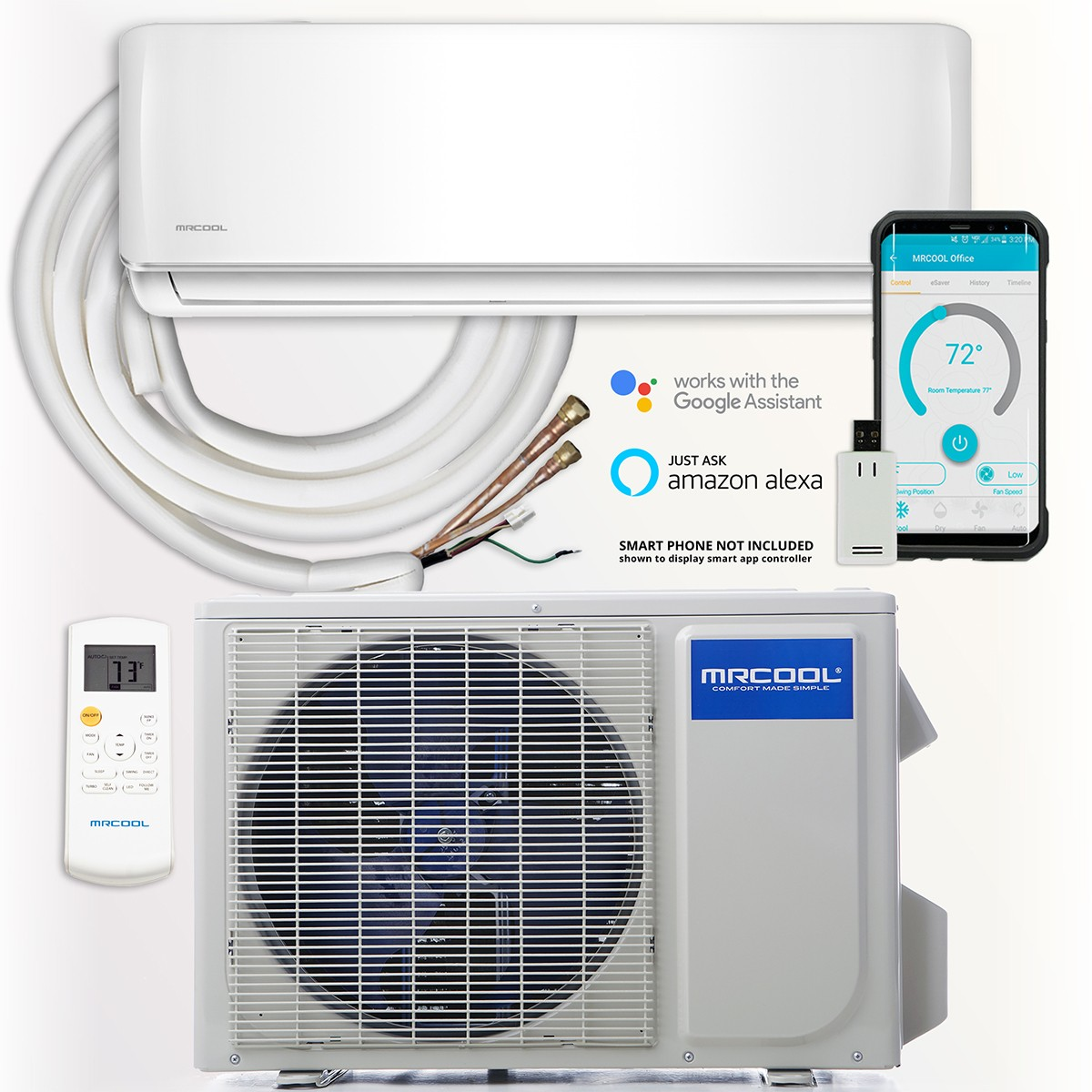 MRCOOL DIY 36,000 BTU Mini Split AC Heat Pump w/ Smart Controller