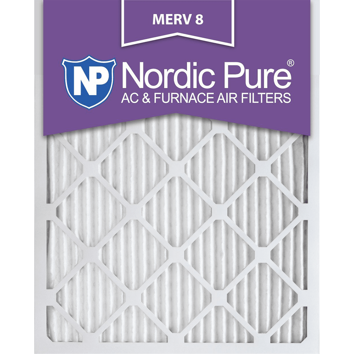 Nordic Pure MERV 8 1-in. Pleated Furnace Filters (6 Pack) no6650