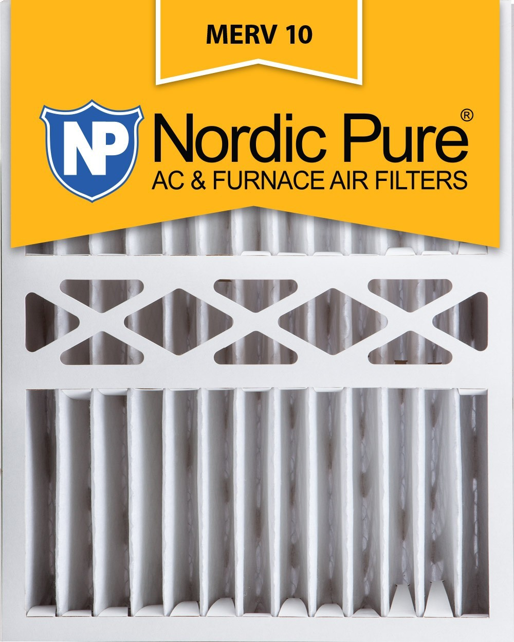 Nordic Pure MERV 10 5-in. Pleated Furnace Filters no6666