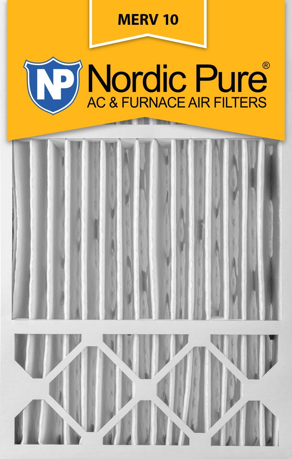Nordic Pure MERV 10 5-in. Pleated Furnace Filters no6665