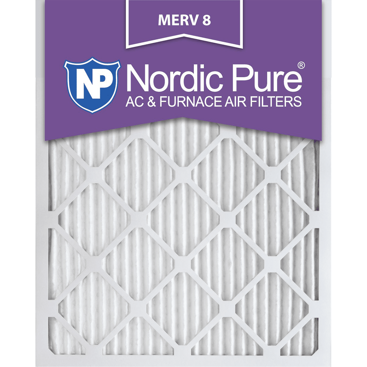 Nordic Pure MERV 8 1-in. Pleated Furnace Filters (6 Pack) no6652