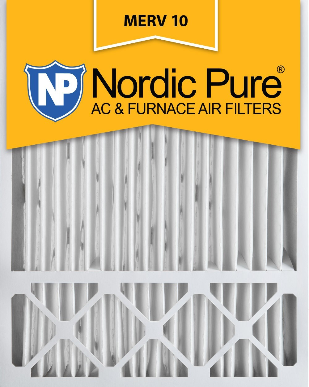 Nordic Pure MERV 10 5-in. Pleated Furnace Filters no6668