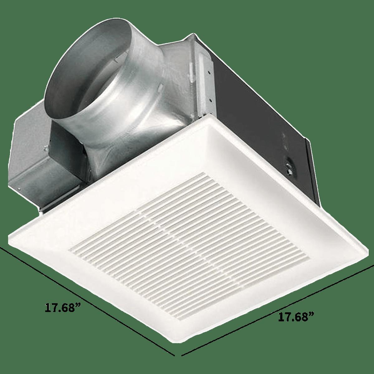 Panasonic Whisperceiling Bathroom Fans, Panasonic Bathroom Exhaust Fan With Light Parts