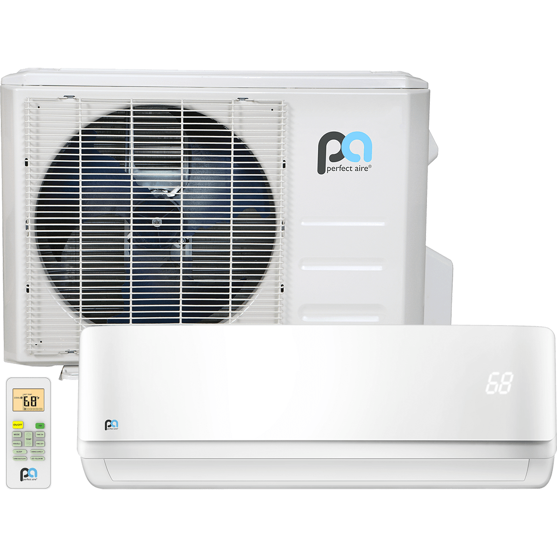 Perfect Aire 12,000 BTU Ductless Mini-Split/Heat Pump 2PAMSH12B-17.5