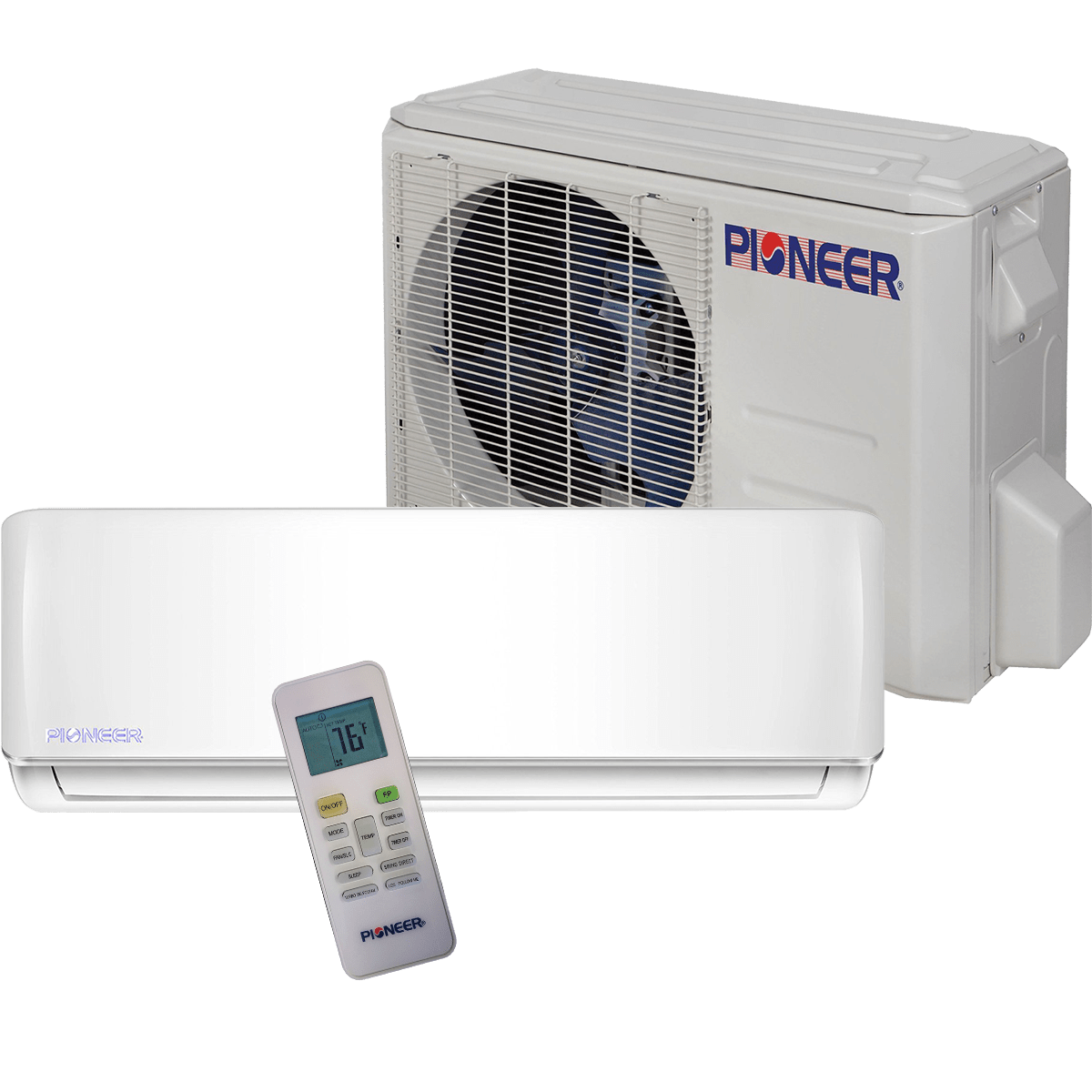 pioneer 30 000 btu 230v mini split heat pump sylvane. Black Bedroom Furniture Sets. Home Design Ideas