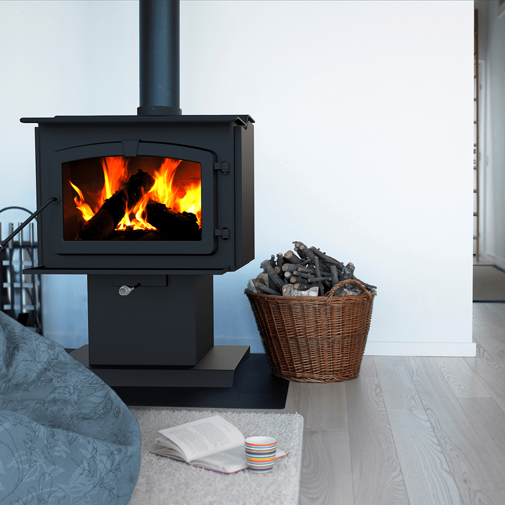 Pleasant Hearth HWS-224172MH 50,000 BTU Small Wood Burning Stove