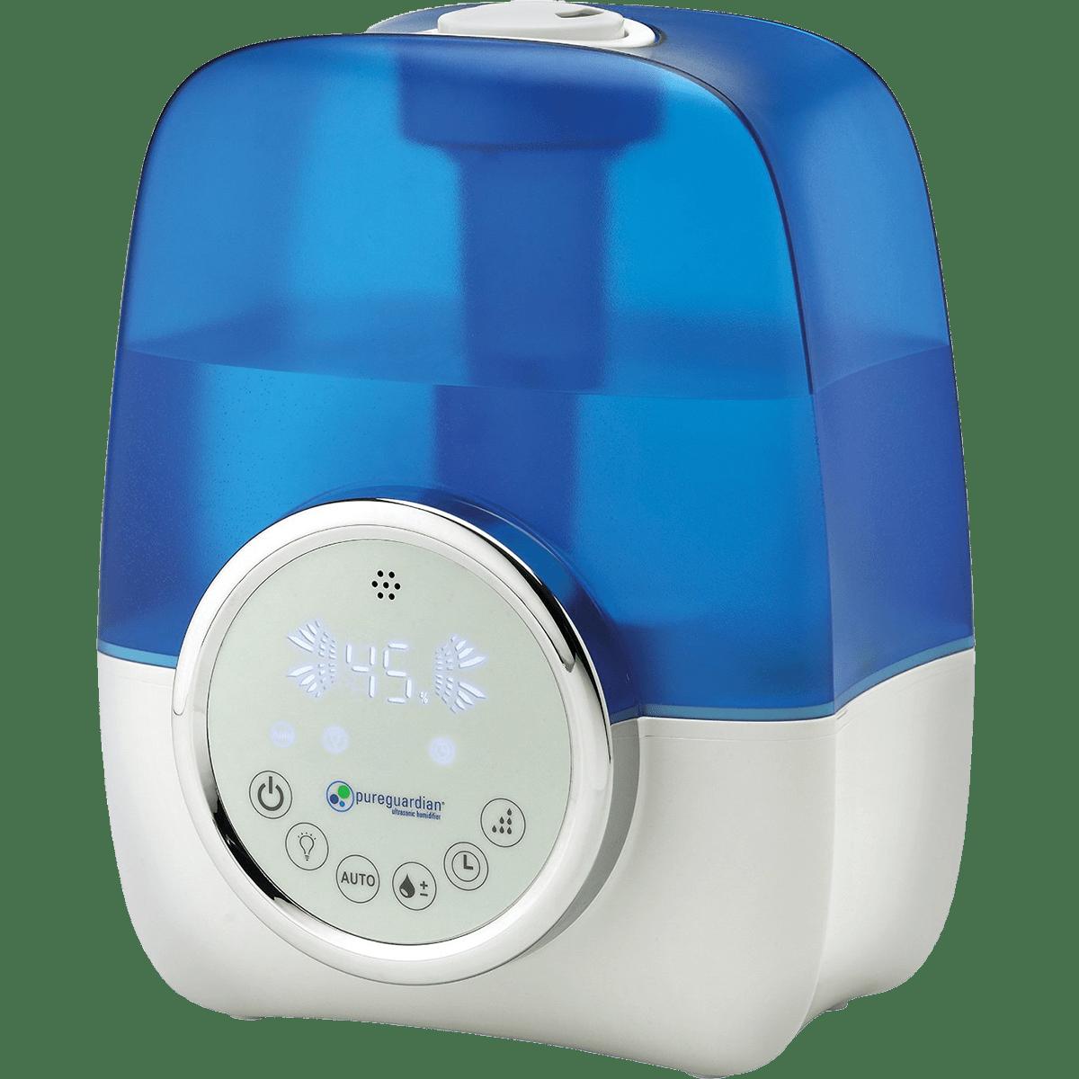PureGuardian H1250 100-Hour Ultrasonic Cool Mist Humidifier with Digital Smart Mist Sensor ge5658