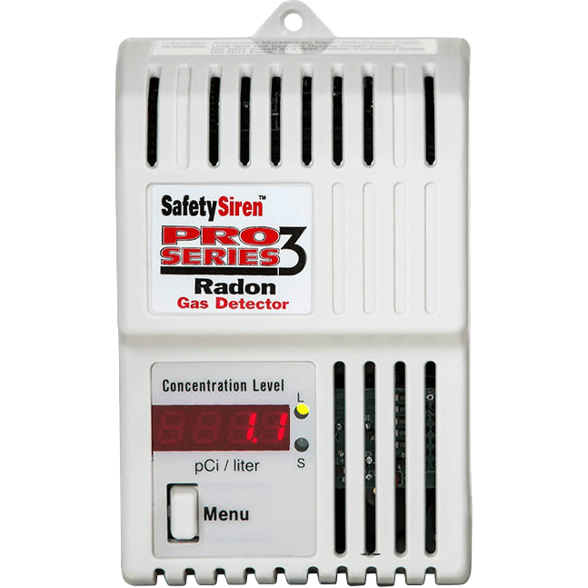 Safety Siren Pro Series3 Radon Gas Detector
