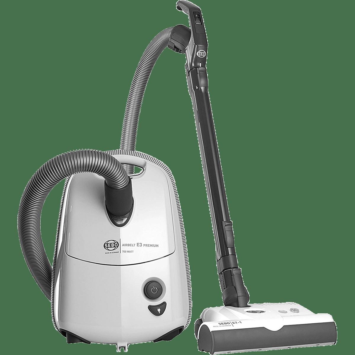 sebo airbelt e3 premium canister vacuum arctic white - Canister Vacuums