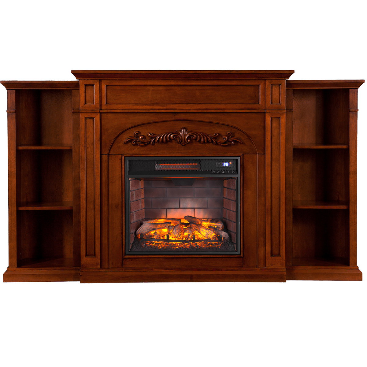 Southern Enterprises Sei Chantilly Fireplace With Bookcases