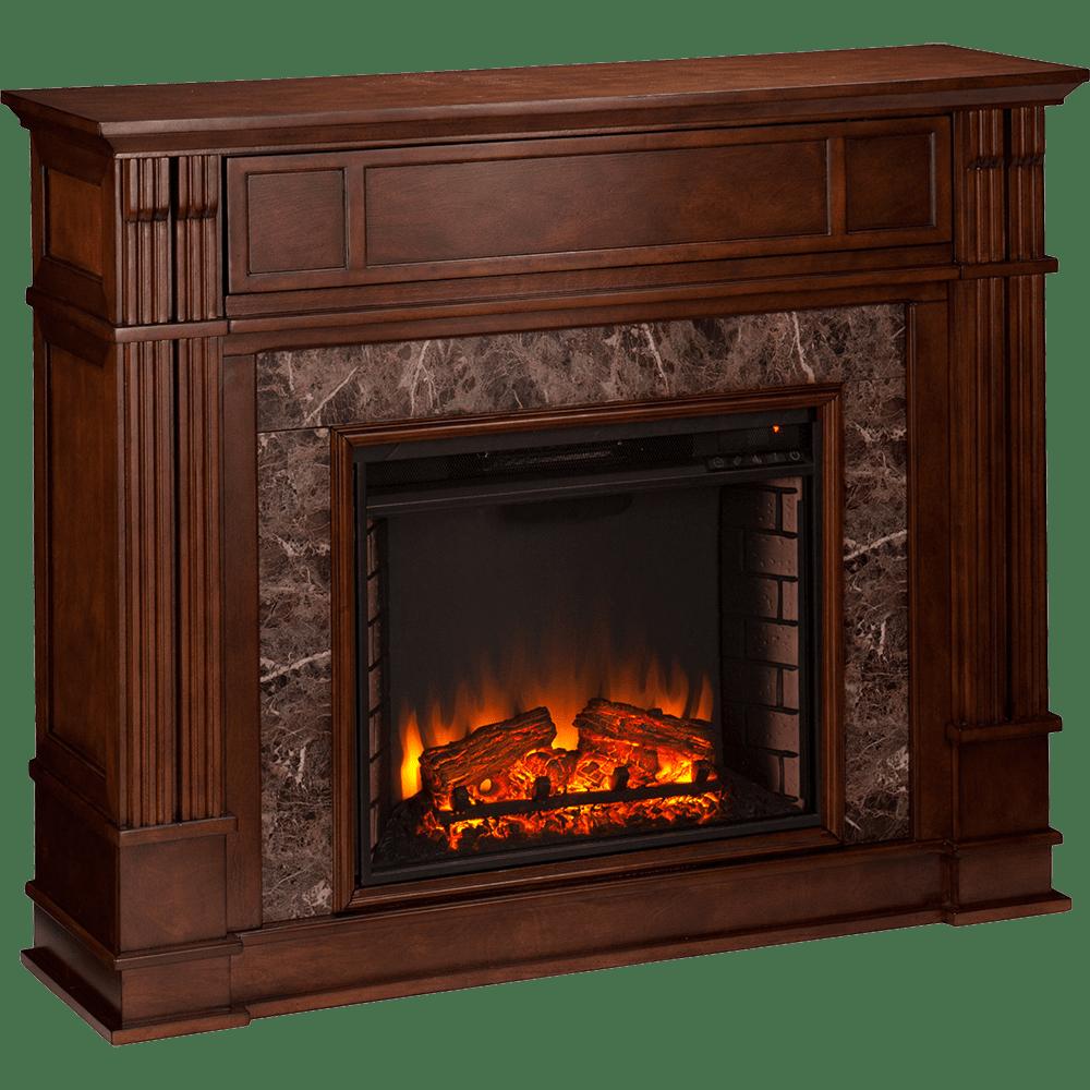 Southern Enterprises SEI Highgate Faux Stone Media Fireplace