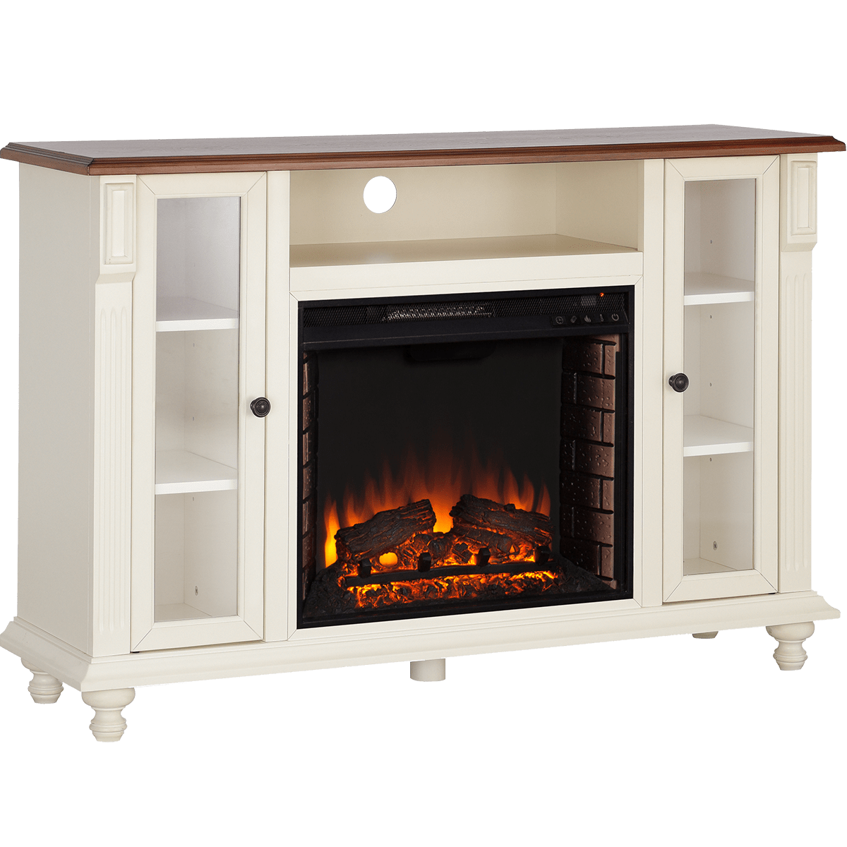 The Southern Enterprises Carlinville Electric Fireplace TV stand ships free when you shop Sylvane. Click or give one of our product experts a call for more information!
