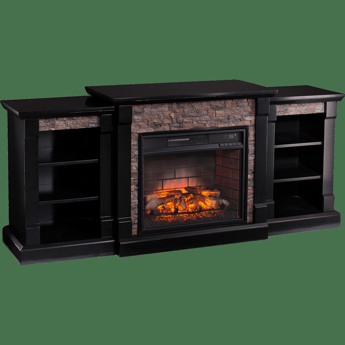 Southern Enterprises Gallatin Faux Stone Fireplace Sylvane