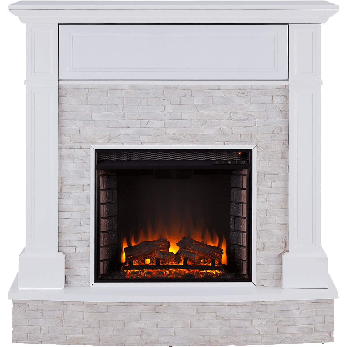Sei Jacksdale Faux Stone Fireplace Sylvane