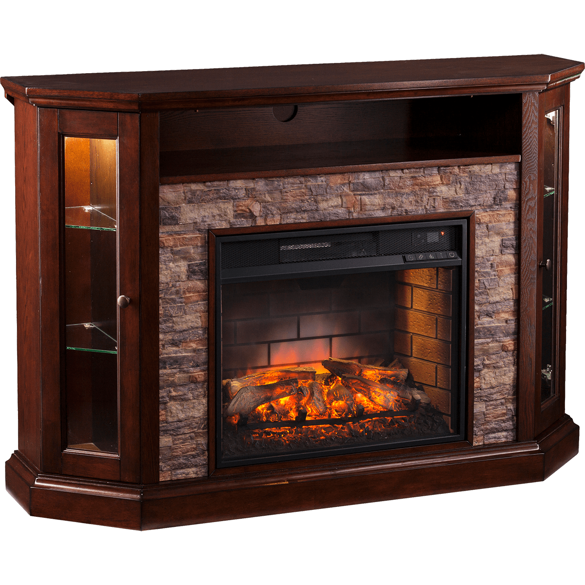Southern Enterprises Redden Corner Electric Media Fireplace Sylvane