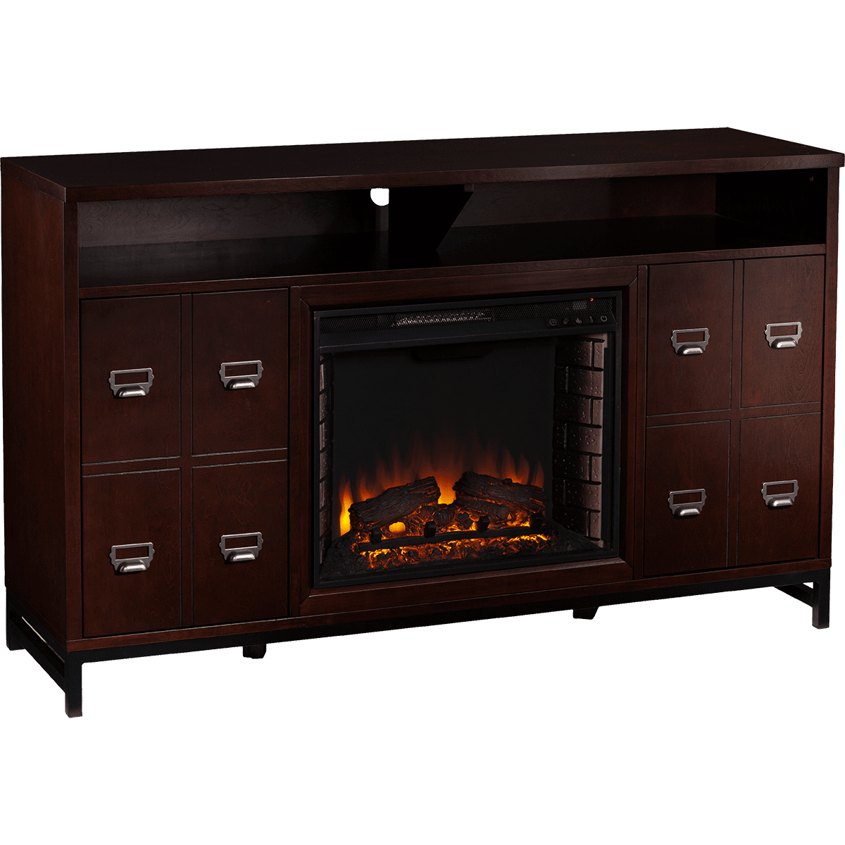 Southern Enterprises Rutherford Electric Fireplace Media Stand