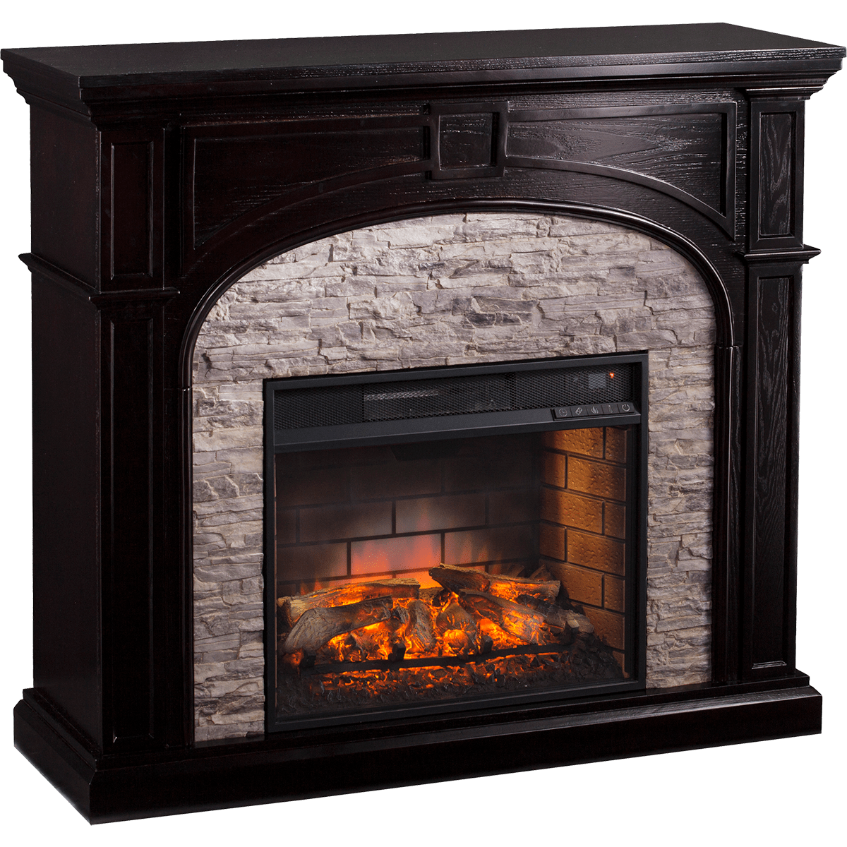 stone look electric fireplaces search