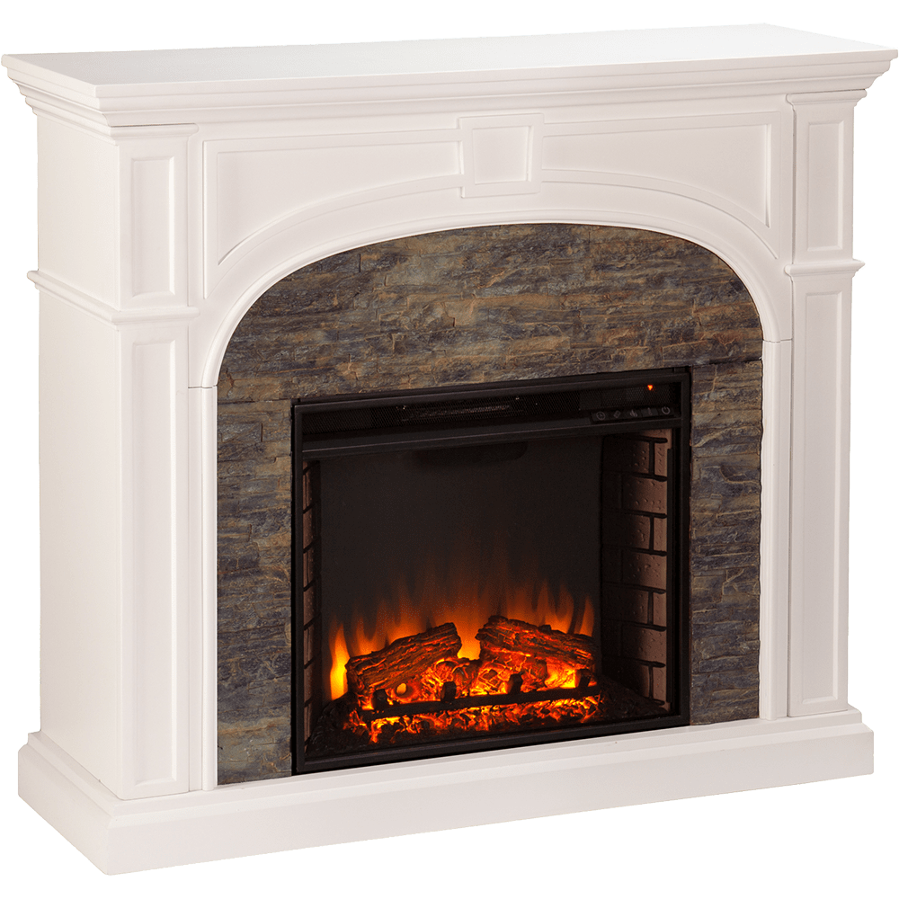 southern enterprises sei tanaya stacked stone electric fireplace