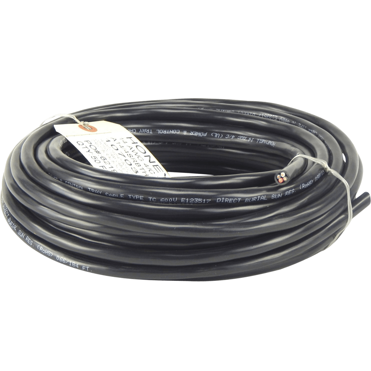 """1/4"""" X 1/4"""" 50 Ft Stranded Tray Cable Wire"""