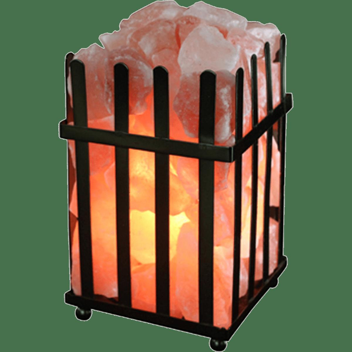 Wbm international picket frame lamp w salt crystal chunks for Wbm 7 tall himalayan natural crystal salt lamp