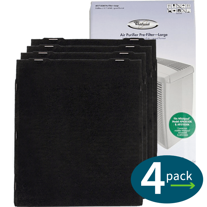 Genuine Whirlpool Carbon Pre-filter - Large (4 pack) (8171434K) wh611
