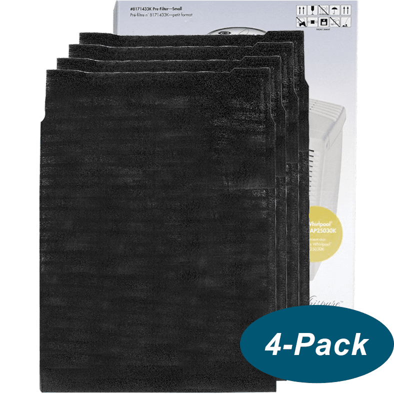 Genuine Whirlpool Carbon Pre-filter - Small (4 pack) (8171433K) wh612