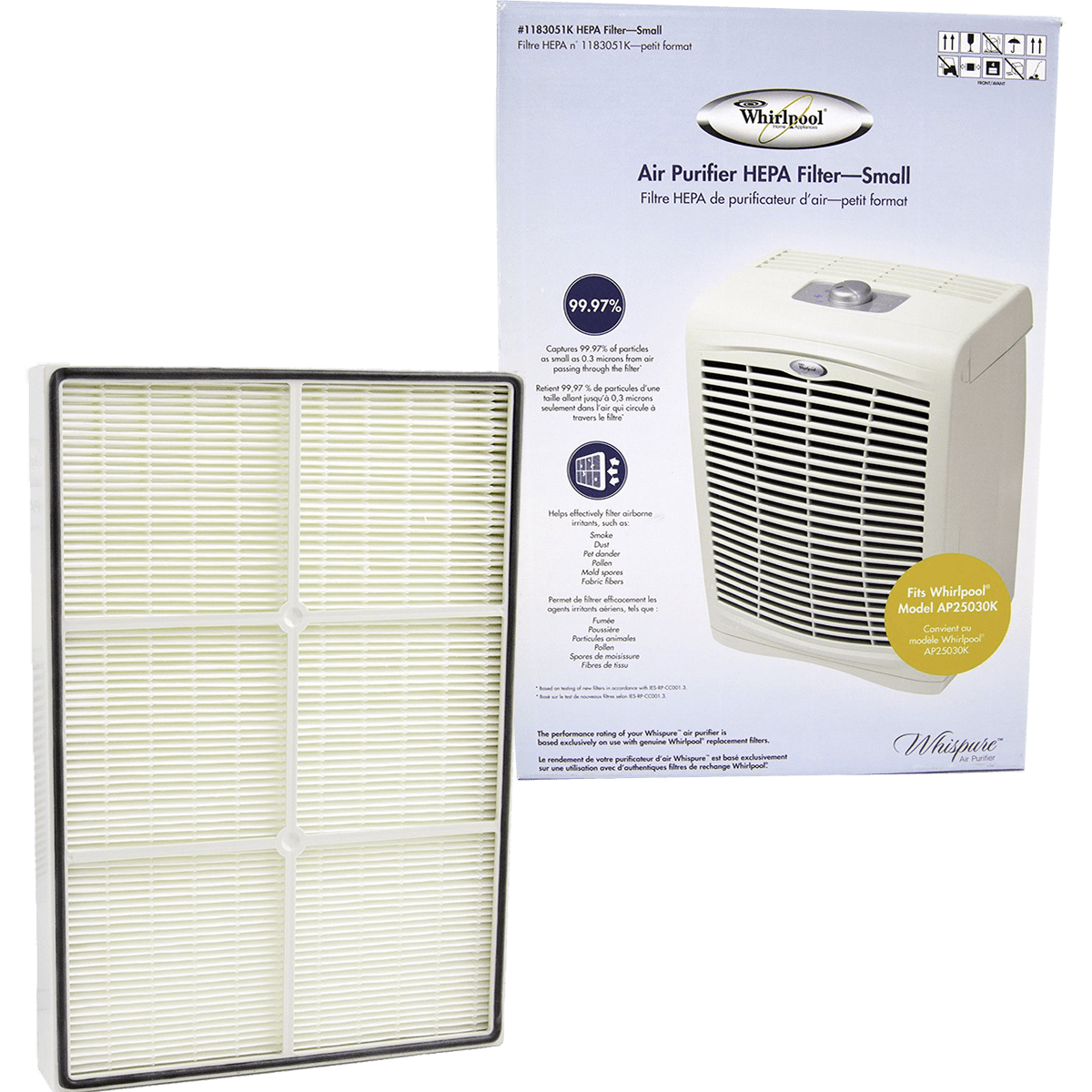 Whirlpool True HEPA Filter - Small (1183051K) wh608