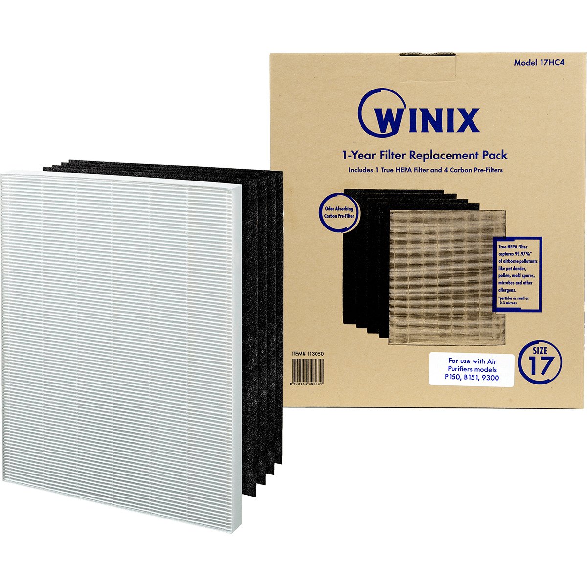 Winix Size 17 Replacement Filter Set (113050) wi3313