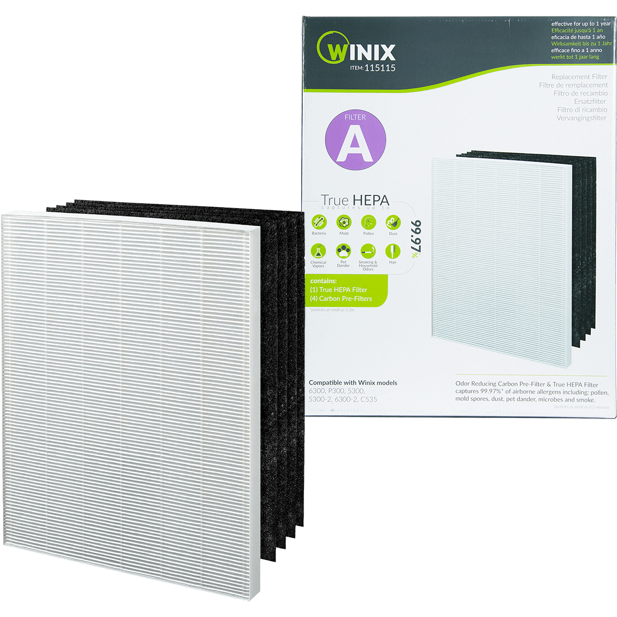 winix size 21 replacement filter set
